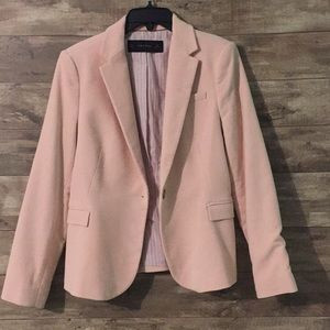 🌸ZARA blush pink blazer with elbow patches 🌸